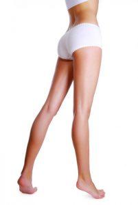 Slender and long beautiful woman's leg